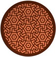 rug #363921 | round red-orange circles rug