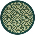 rug #363925 | round yellow circles rug