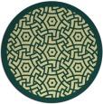 rug #363925 | round yellow borders rug