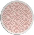 rug #363941 | round pink borders rug