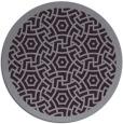 rug #363957 | round purple borders rug