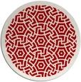 rug #363961 | round red circles rug