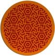 rug #363965 | round red borders rug