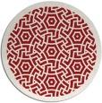 rug #363969 | round red circles rug