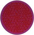 rug #363973 | round red circles rug