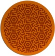 rug #363977 | round red-orange circles rug