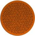 rug #363985   round red-orange circles rug