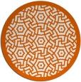 rug #363989   round red-orange circles rug