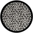 rug #363993 | round white borders rug