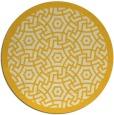 rug #364009 | round yellow geometry rug