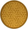 rug #364025 | round yellow borders rug