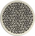 rug #364029 | round black borders rug