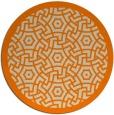 rug #364037 | round beige borders rug