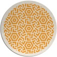 rug #364069 | round light-orange borders rug