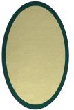 rug #370261 | oval plain yellow rug