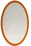 rug #370325 | oval plain red-orange rug