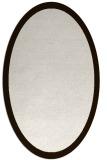 rug #370353 | oval plain brown rug