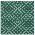 rug #371597 | square green traditional rug