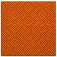 rug #371653 | square red-orange traditional rug