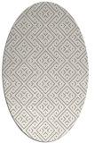 rug #371817 | oval beige traditional rug