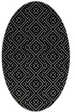 rug #371821 | oval white graphic rug