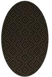 rug #371837   oval mid-brown popular rug