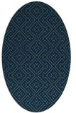 rug #371853 | oval blue graphic rug
