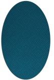 rug #371897 | oval blue graphic rug