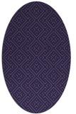 rug #371913   oval purple traditional rug