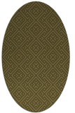 rug #371937 | oval brown graphic rug