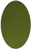 rug #371941 | oval green traditional rug