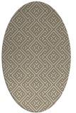 rug #371957 | oval white geometry rug