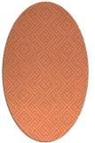 rug #372013 | oval orange geometry rug
