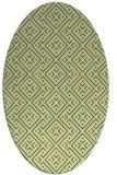 rug #372021   oval yellow traditional rug