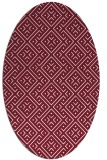 rug #372029 | oval pink graphic rug