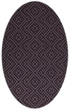 rug #372053 | oval purple traditional rug