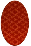 rug #372061 | oval orange graphic rug
