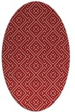 rug #372065 | oval red traditional rug