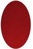 rug #372069 | oval red traditional rug