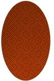 rug #372073 | oval red-orange traditional rug