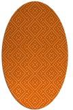 rug #372077 | oval red-orange traditional rug