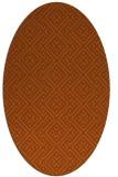 rug #372081 | oval red-orange rug