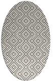 rug #372089 | oval white traditional rug