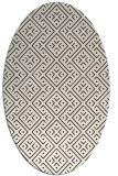 rug #372113 | oval brown graphic rug