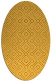 rug #372121   oval yellow traditional rug