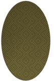 rug #372149 | oval light-green rug