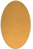 rug #372165 | oval light-orange traditional rug