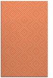rug #372365 |  orange geometry rug