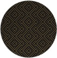 rug #372541 | round mid-brown traditional rug