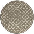 rug #372661 | round white geometry rug